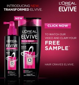 Free Sample of LOreal Elvive Shampoo 278x300 Free Sample of LOreal Elvive Shampoo