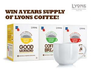 Win a Years Supply of Lyons Coffee 300x228 Win a Years Supply of Lyons Coffee