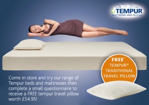 Tempur Traditional Travel Pillow : Free Tempur Traditional Travel Pillow FreeSamples.co.uk