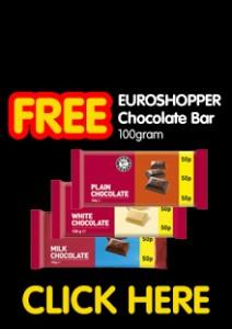 Free Chocolate – Milk, White or Dark