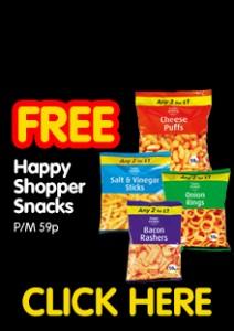 Free Bag of Happy Shopper Snacks PM 59p