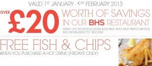Free Food At BHS Stores