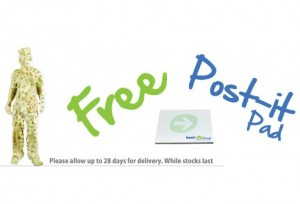 Free Pack of Post it Notes 300x204 Free Pack of Post it Notes