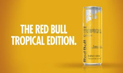 Free Red Bull Tropical Edition Can