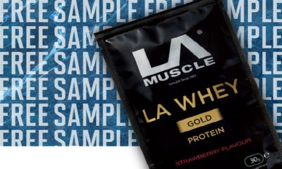 Free Strawberry Protein Shake from LA Muscle