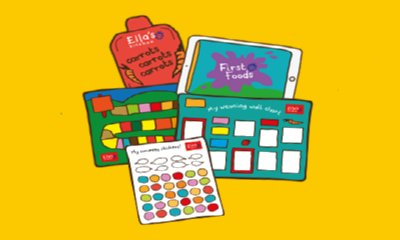 Free Weaning Wall Chart + Stickers from Ella's Kitchen