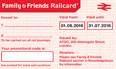 Family And Friends Railcard Promo Code