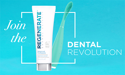 Free 2 Tubes of Regenerate Whitening Toothpaste