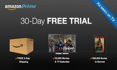 Amazon Prime –  30-Day Free Trial