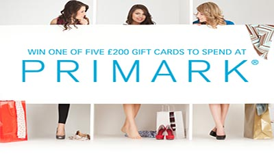 Win 1 of 5 £200 Primark Gift Cards