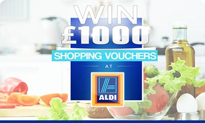 Win £1,000 ALDI Shopping Vouchers
