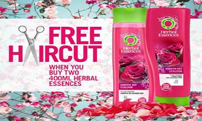 Free Haircut With Herbal Essences