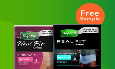 Free Depend Real Fit Underwear