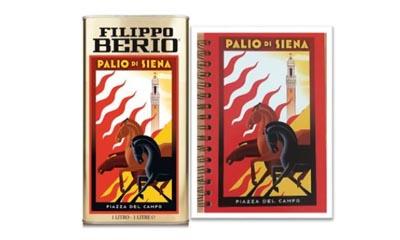 Free Filippo Berio Tins & Notebook Sets