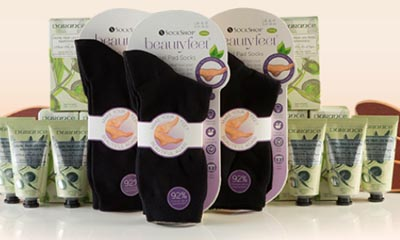 Free SockShop Socks, Foot File & Foot Cream