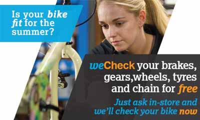 Free Bike Check at Halfords
