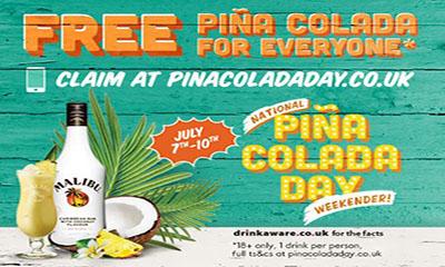 Free Malibu Pina Colada