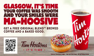 Free Tim Hortons Coffee & Baked Good