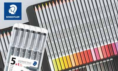 Win a Staedtler Karat aquarell Watercolour Pencil Set
