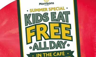 Free Kids Meal All Day in Morrisons Cafe
