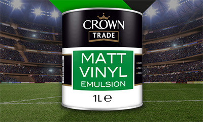 Free 1 Litre Crown Paint Pot