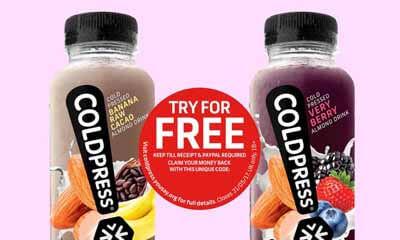 Free Coldpress Juice at Tesco
