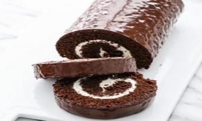 Free Chocolate Swiss Roll Cake