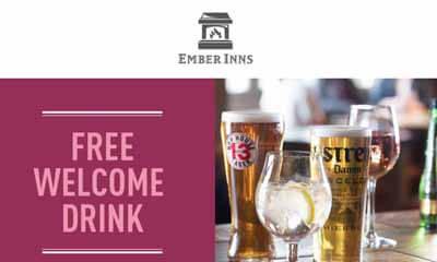 Free Drink at Ember Inns