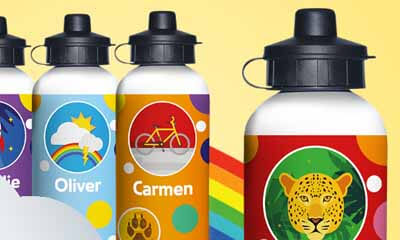 Free Kindernauts Personalised Drinks Bottles