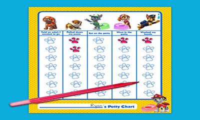 Free Paw Patrol Potty Training Chart