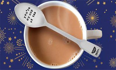 Free Personalised Silver Teaspoon from Tetley
