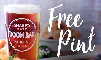 Free Pint of Doom Bar