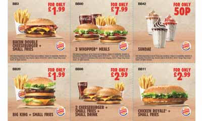 Free Burger King Money Off Vouchers