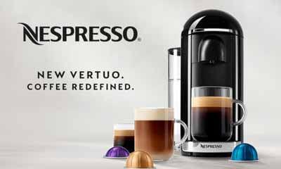 Free Nespresso Vertuo Coffee Machine & Mug Set
