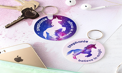 Free Personalised Unicorn Keyring