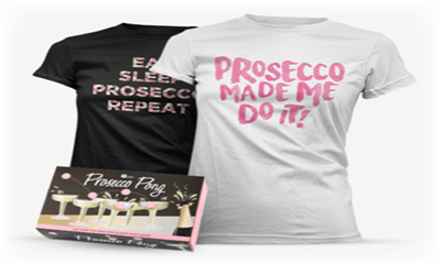 Free Prosecco Pong and T-Shirt (Worth £16.99)