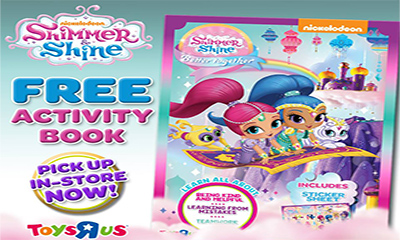 Free Shimmer & Shine Activity Book
