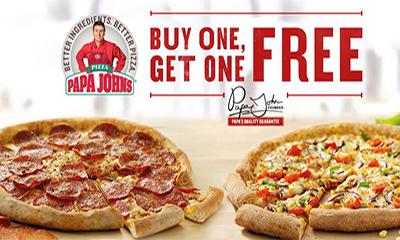 Papa John's – Buy One Get One Free