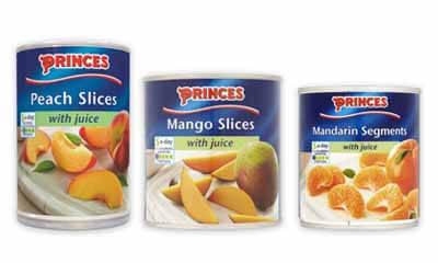 Free Can of Princes Peach, Mango or Mandarins Slices