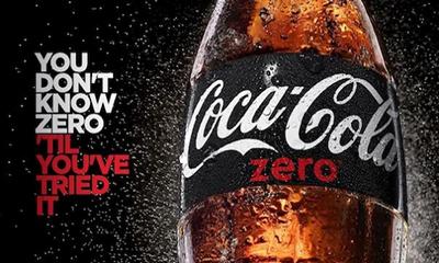 Free Coca-Cola Zero Bottle