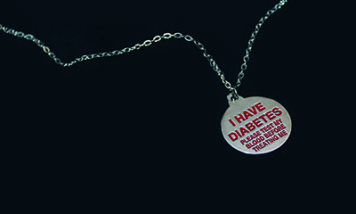 Free Diabetes Awareness Necklace