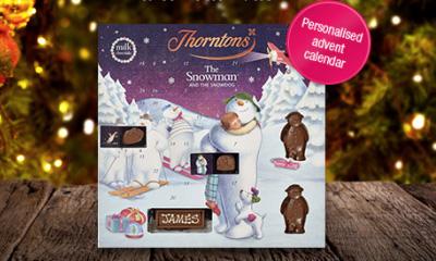 Free Personalised Large Snowman Advent Calendar