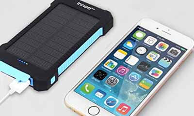 Free Solar Mobile Phone Powerbank Recharger