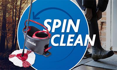 Free Vileda Easy Wring Clean Turbo Set