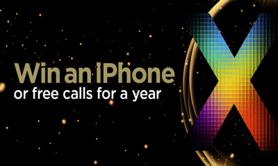 Win an iPhone X or Free International Calls for A Year