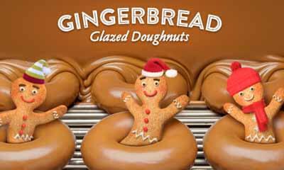 Free Krispy Kreme Gingerbread Glazed Doughnut