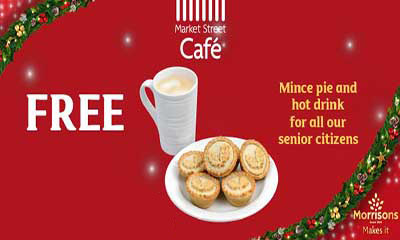 Free Mince Pie & Hot Drink for Senior Citizens