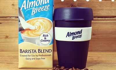 Free Almond Breeze Reusable Coffee Cup