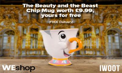 Free Beauty And The Beast Chip Mug