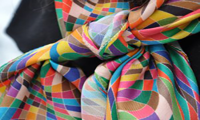 Free Colourful Silk Scarf